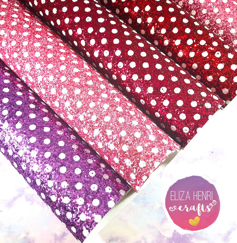 EXCLUSIVE Polka Dot Chunky Glitter Fabric Collection