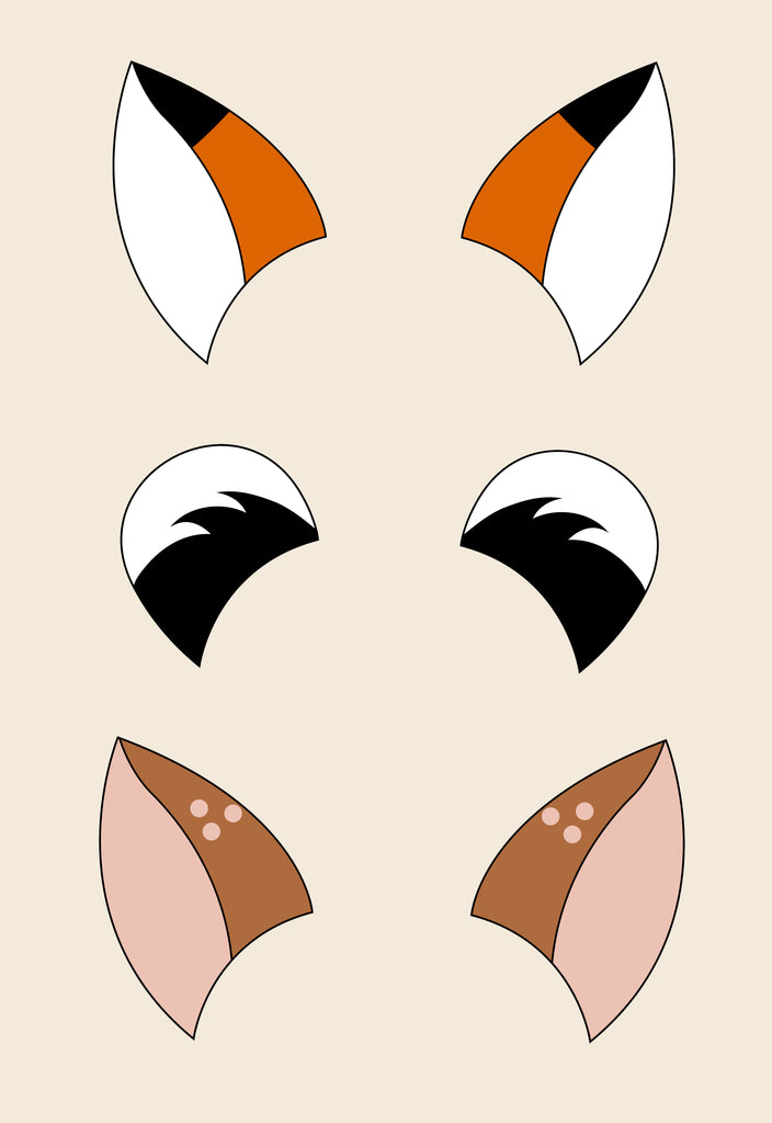 photo relating to Bow Printable known as Woodland Animal Ears Hair Bow Template
