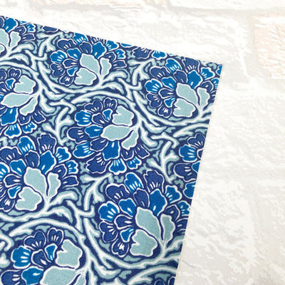 Dianthus Dreams - Blue -Hesketh House Liberty Fabric Felt 04775649X