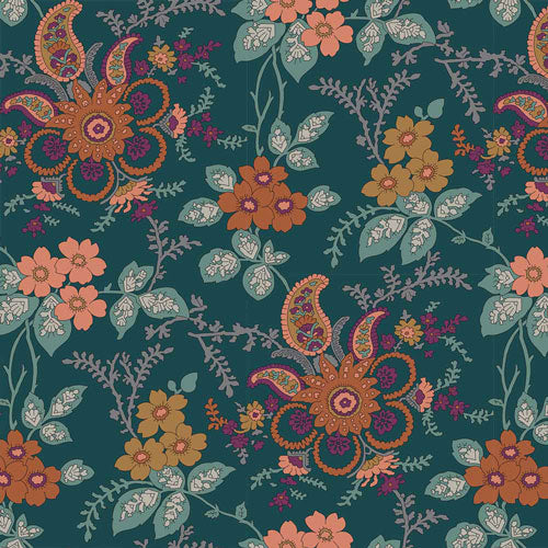 Fireside - Orange -Hesketh House Liberty Cotton Fabric 04775651Z
