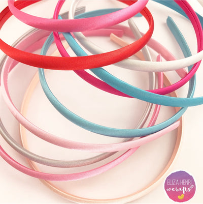 Satin Alice Hair Bands - Eliza Henri Craft Supply
