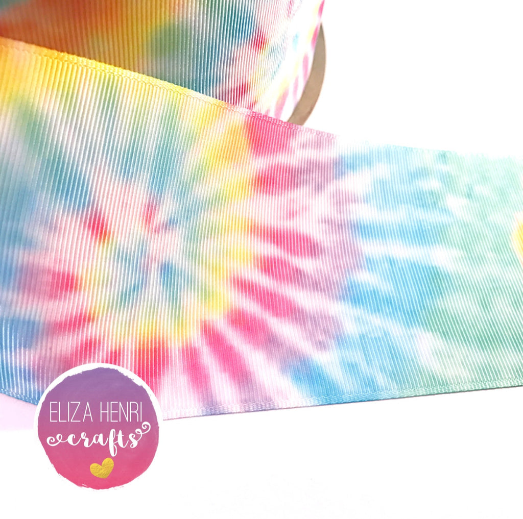 Bright Tie Dye Grosgrain Ribbon 2'' or 3''