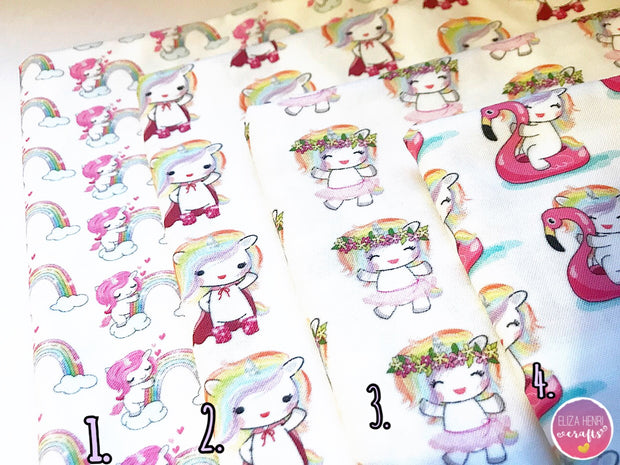 The Cute Unicorn Collection- Luxury Artisan Fabric Felts
