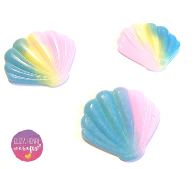 Pastel Mermaid Shell Embellishments