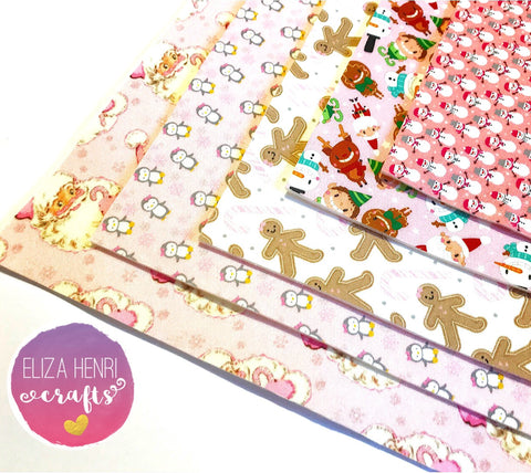 The Pink Christmas Collection- Luxury Artisan Fabric Felts