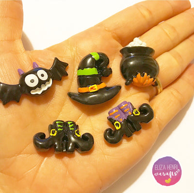 Halloween Witch Charm Embellishments