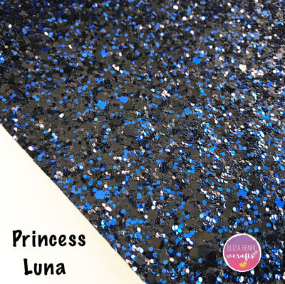 Princess Luna Chunky Glitter Fabric - Eliza Henri Craft Supply