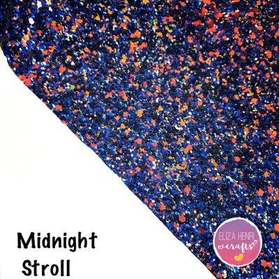 Midnight Stroll Chunky Glitter Fabric