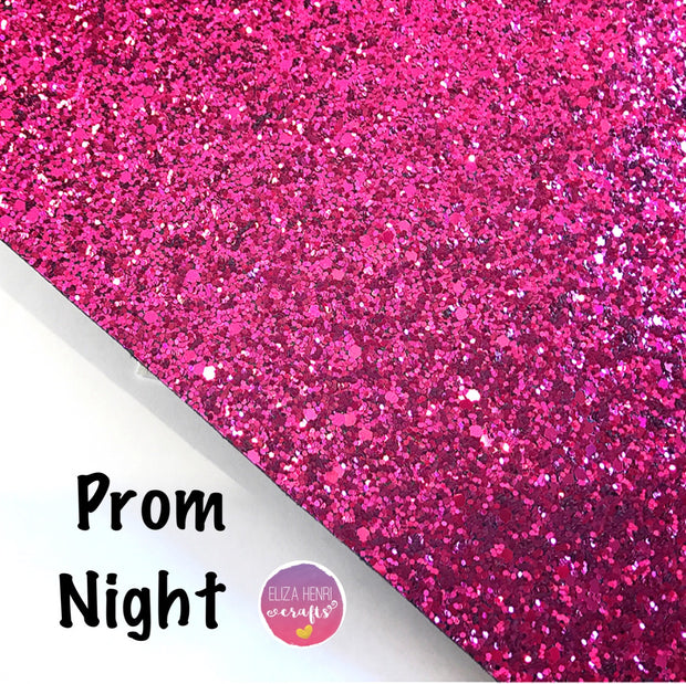 Prom Night Fuchsia Chunky Glitter Fabric
