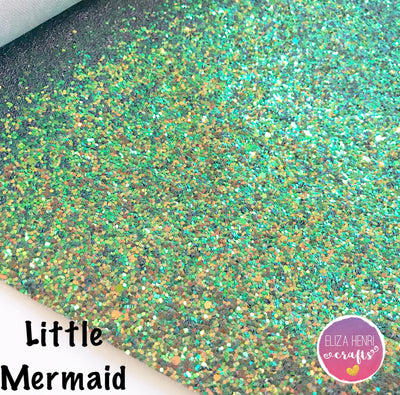 Little Mermaid Chunky Glitter Fabric