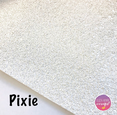 Pixie White Glitter Fabric - Eliza Henri Craft Supply