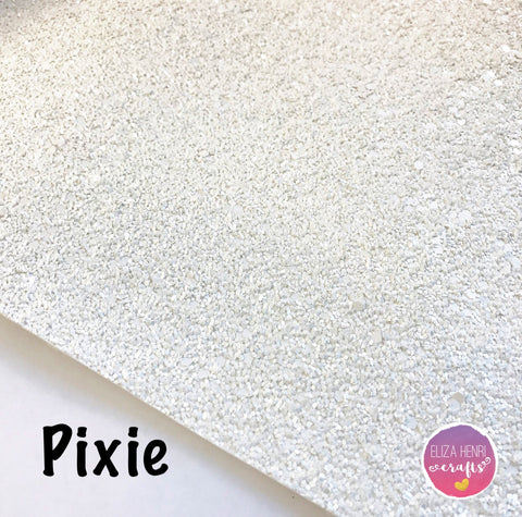 Pixie White Glitter Fabric