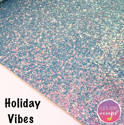 Holiday Vibes Chunky Glitter Fabric