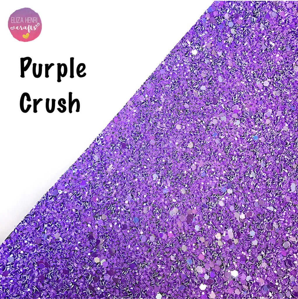Purple Crush Chunky Glitter Fabric