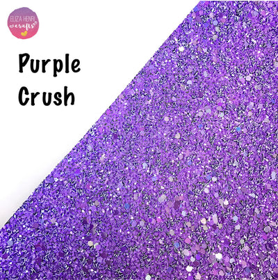 Purple Crush Chunky Glitter Fabric - Eliza Henri Craft Supply