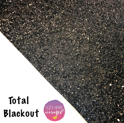 Total Blackout Chunky Glitter Fabric