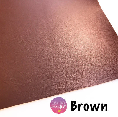 Brown Faux Thin Leather Fabric
