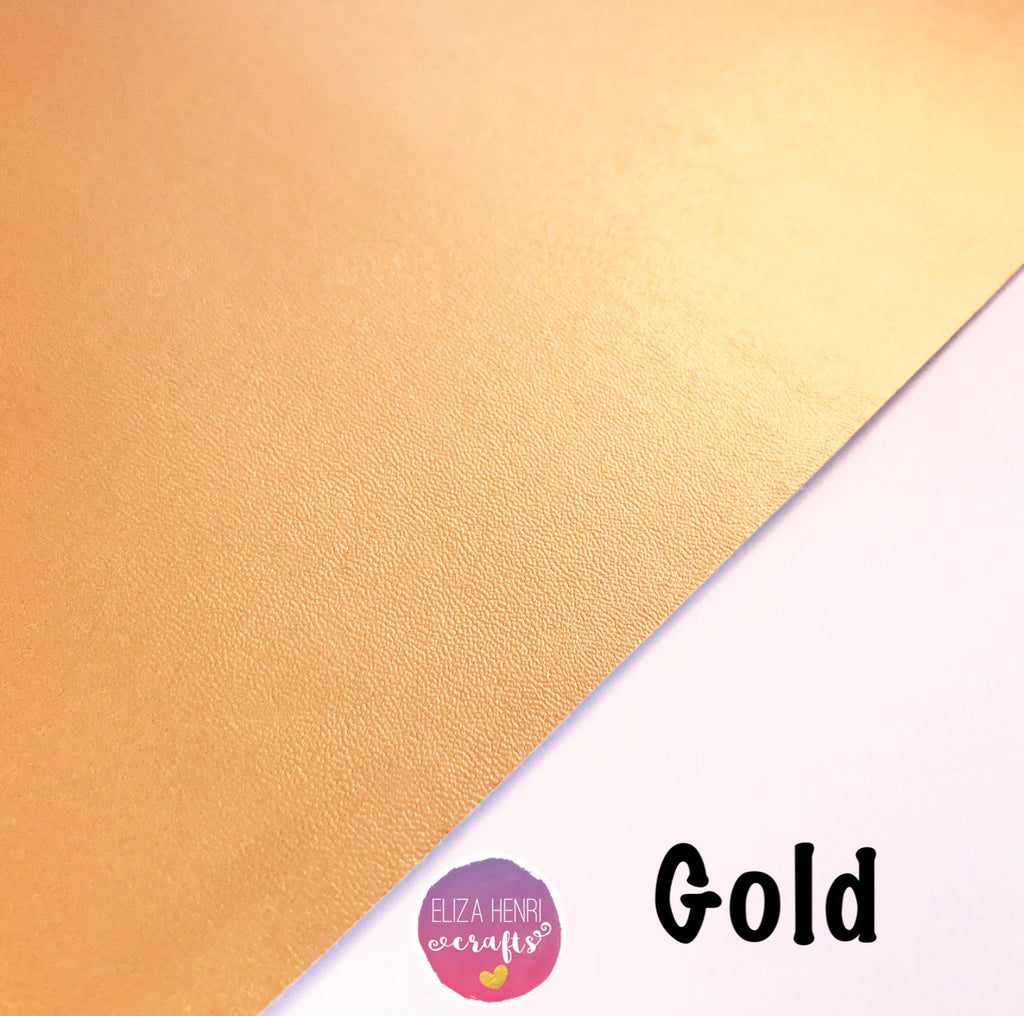 Gold Faux Thin Leather Fabric
