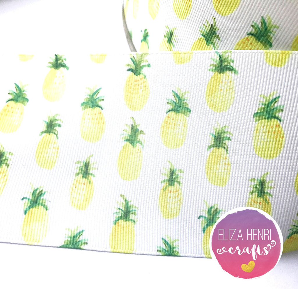 Pineapple Grosgrain Ribbon 2'' or 3''