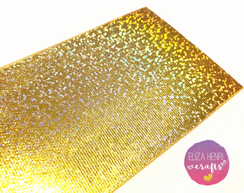 Holographic Gold Foil ribbon Grosgrain Ribbon 3''