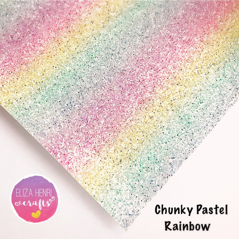 EXCLUSIVE Pastel Rainbow Chunky Glitter Fabric