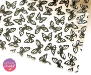Clear Glitter Butterfly Transparent Fabric