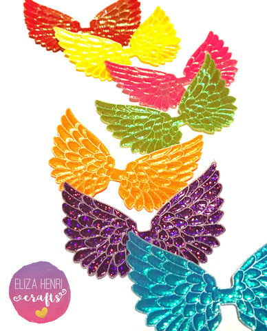 Rainbow Angel Wing Embellishments- As seen in Bow-Box