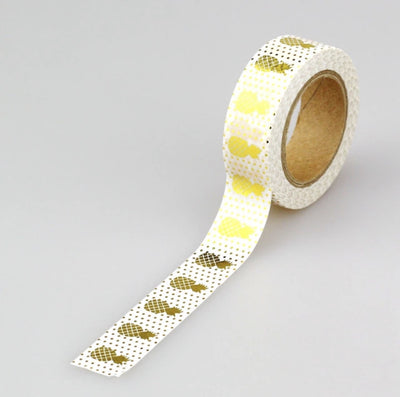 Luxury Paper Foil Washi Tape- Gold Foil pineapples