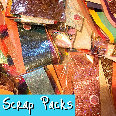 Glitter & Leather Fabric Scrap Pack 250G