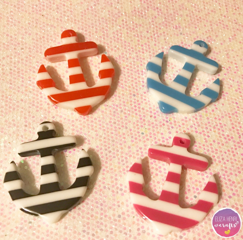 Summer Sailors Anchors Charm Embellishments
