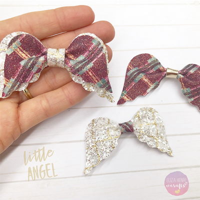 Angel Wings Pinch Bow Template