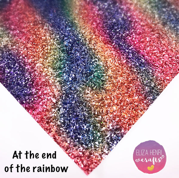 EXCLUSIVE At the End of the Rainbow Glitter Fabric