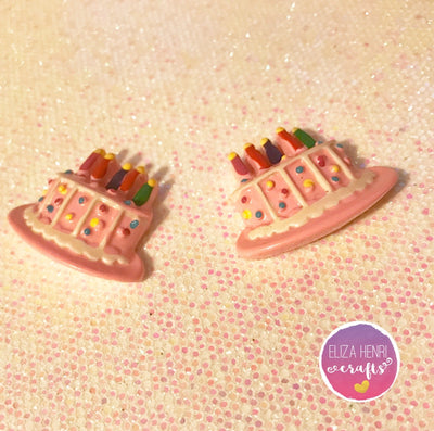 Birthday Cake Charm Embellishments