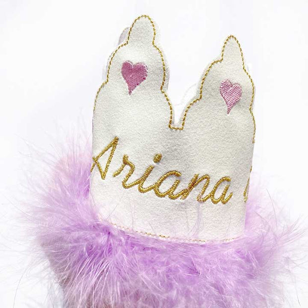 Birthday Feltie Embroidered Crowns