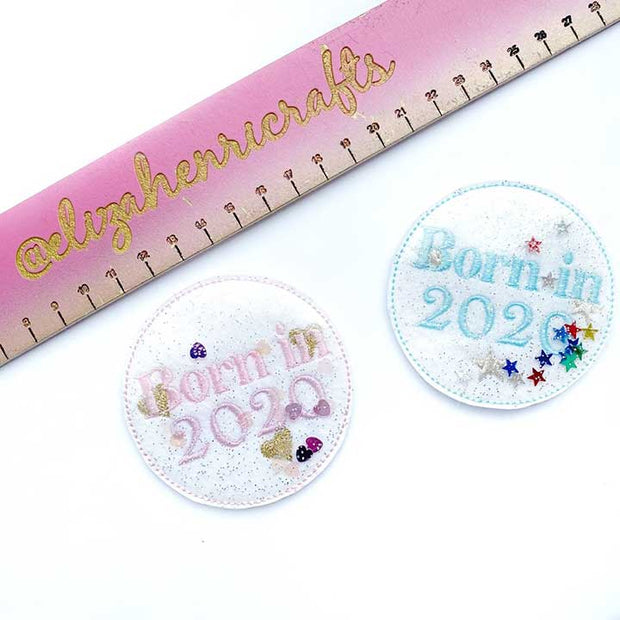 Exclusive EHC New Baby Badge Shaker Felties