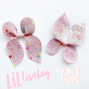 2 in 1 Love Bug / Butterfly Pinch Bow Template