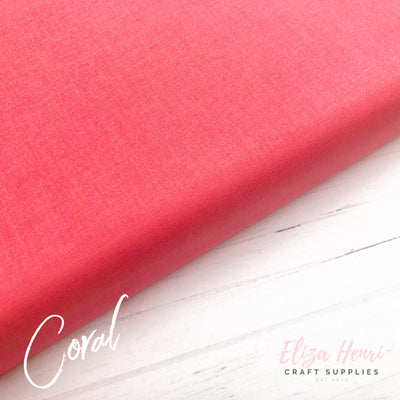 Coral Plain Cotton Fabric