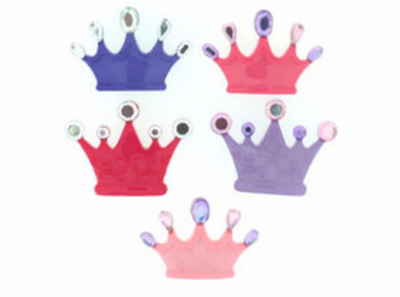 Dress It Up Princess Crowns Premium Novelty Button Packs - Eliza Henri Craft Supply