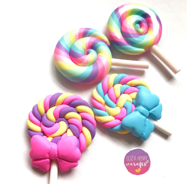 Cute Lollipops Charm Embellishments
