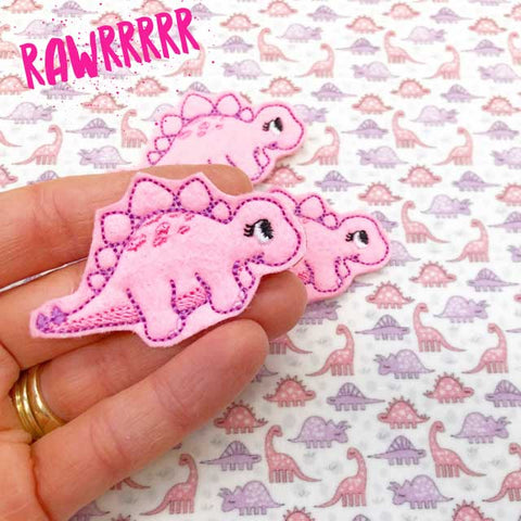 Cute Girly Dinosaur Felties