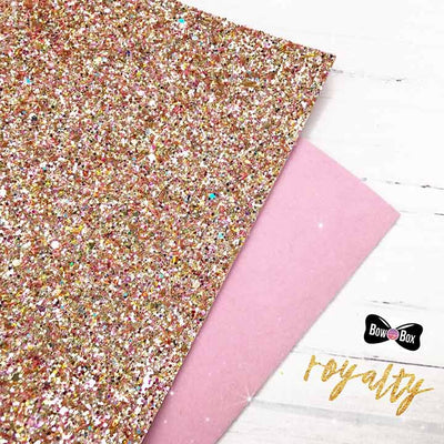 Double Sided Royalty Chunky Glitter Fabric