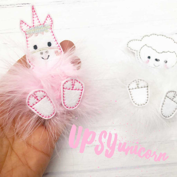 fluffy unicorn felties fur babies