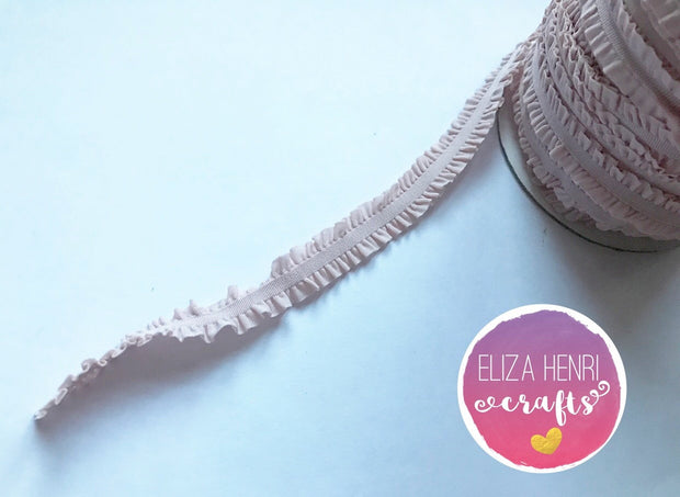 Frilly Nude Ruffle FOE Hair Elastic