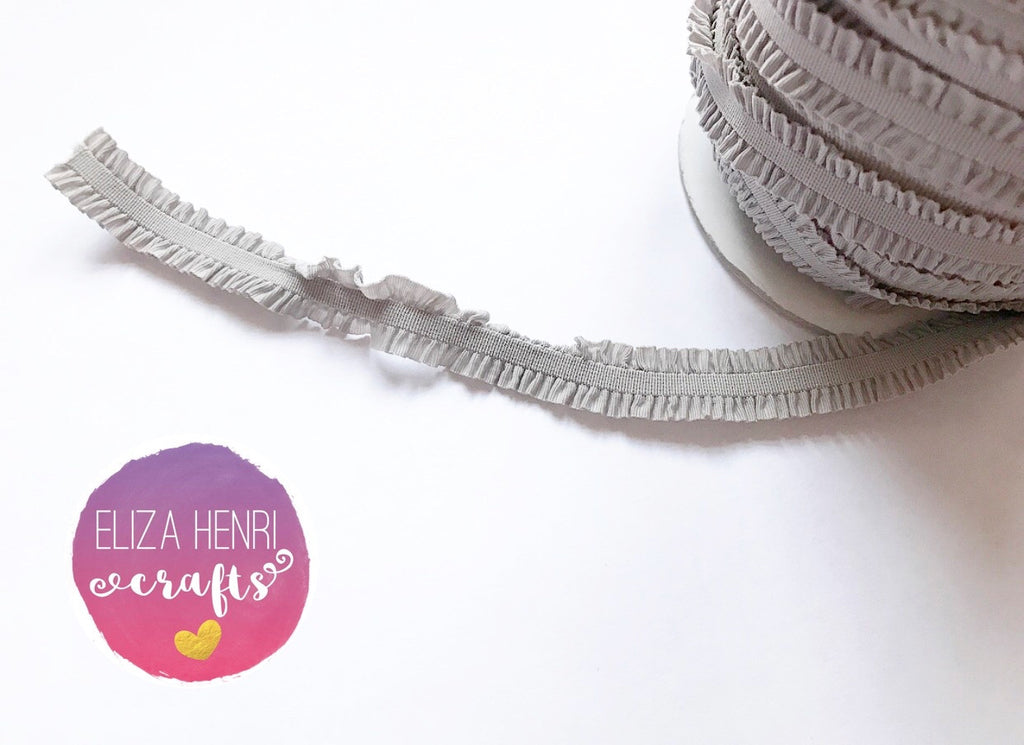 Frilly Grey Ruffle FOE Hair Elastic