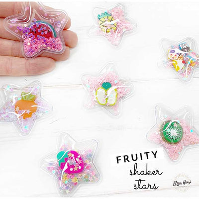 Confetti Filled Fruit Shaker Star Embellishments