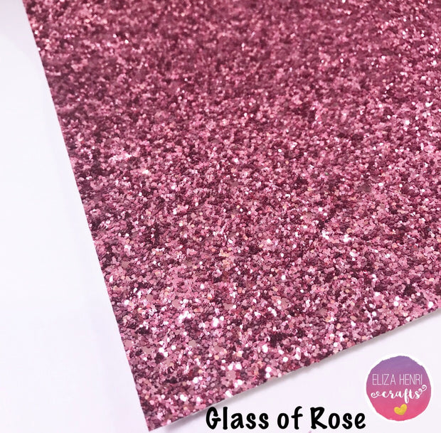 Glass of Rose Chunky Glitter Fabric
