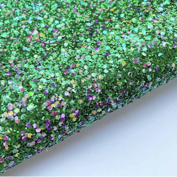 Elf Express Chunky Glitter Fabric