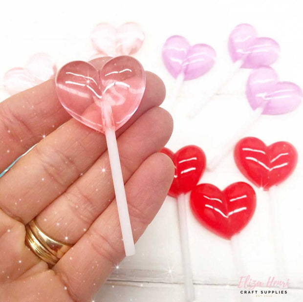 heart lollipop resins