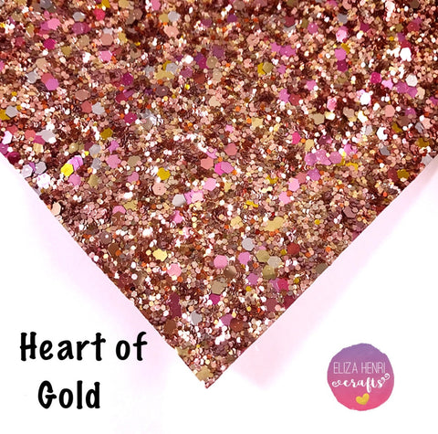EXCLUSIVE Heart of Gold Chunky Glitter Fabric