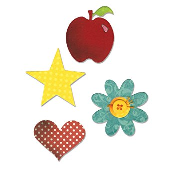 Sizzix Bigz Die - Apple, Flower, Heart & Star A10598